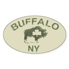 Buffalo Irish Oval Bumper Stickers
