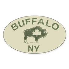 Buffalo Irish Oval Decal