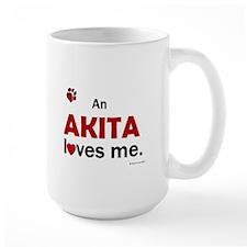 An Akita Loves Me Mug