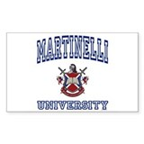 MARTINELLI University Rectangle Decal