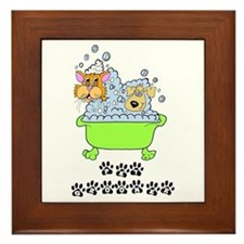 Pet Groomer Framed Tile