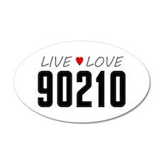 Live Love 90210 38.5 x 24.5 Oval Wall Peel