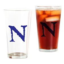 Cute Christmas letter a alphabet womens Drinking Glass