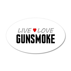 Live Love Gunsmoke 38.5 x 24.5 Oval Wall Peel