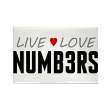 Live Love Numb3rs Rectangle Magnet