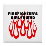 Firefighter's Girlfriend Tile Coaster