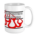 Firefighters Girlfriend Large Mug