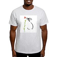 single pink flower T-Shirt