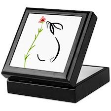 single pink flower Keepsake Box