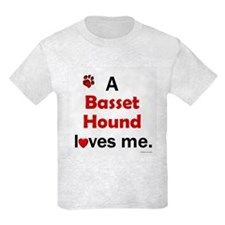A Basset Hound Loves Me T-Shirt