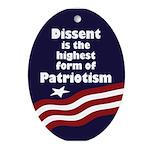Dissent is the Highest Patriotism ornament