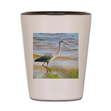 Blue Heron Beach Stroll Shot Glass