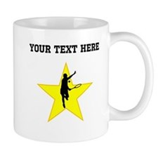 Tennis Player Silhouette Star (Custom) Mugs