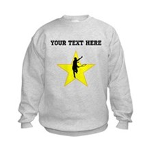 Tennis Player Silhouette Star (Custom) Sweatshirt