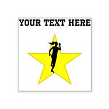 Runner Silhouette Star (Custom) Sticker