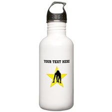 Runner Crouched Star (Custom) Water Bottle