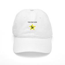 Pole Vaulter Silhouette Star (Custom) Baseball Baseball Cap