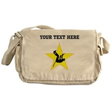 Pole Vaulter Silhouette Star (Custom) Messenger Ba