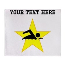 Swimmer Star (Custom) Throw Blanket