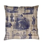 Vintage Sewing Toile Master Pillow
