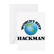 World's Best Hackman Greeting Cards