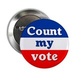 Ten Count My Vote Buttons