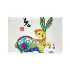 Cute Chinese zodiac rabbit Rectangle Magnet