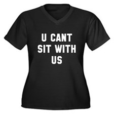 You can't si Women's Plus Size V-Neck Dark T-Shirt