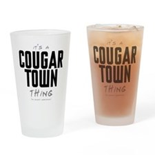 It's a Cougar Town Thing Drinking Glass