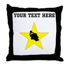 Motorcycle Racing Star (Custom) Throw Pillow