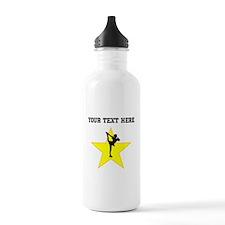 Figure Skate Silhouette Star (Custom) Water Bottle