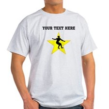 Figure Skate Silhouette Star (Custom) T-Shirt