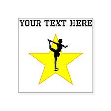 Figure Skate Silhouette Star (Custom) Sticker
