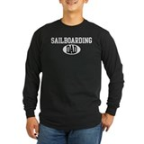 Sailboarding dad (dark) T