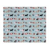 Cute pug throw blanket Fleece Blankets