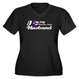 Puerto rican Husband Women's Plus Size V-Neck Dark
