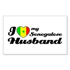 Senegalese Husband Rectangle Decal