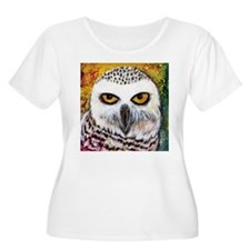 Snowy Owl by GG Burns Plus Size T-Shirt