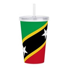 Saint Kitts And Nevis Acrylic Double-Wall Tumbler