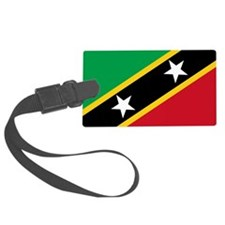 St Kitts and Nevis Flag Luggage Tag