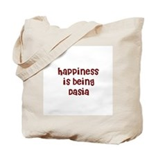 happiness is being Dasia Tote Bag