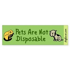 Not Disposable Green Bumper Bumper Sticker