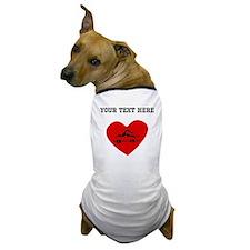 Swimmer Heart (Custom) Dog T-Shirt