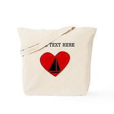 Sail Boat Heart (Custom) Tote Bag