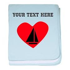 Sail Boat Heart (Custom) baby blanket