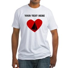 Sail Boat Heart (Custom) T-Shirt