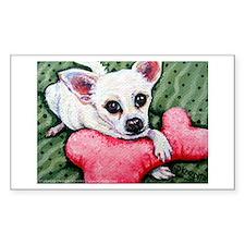 Bit & Bone ~ Chihuahua Rectangle Stickers