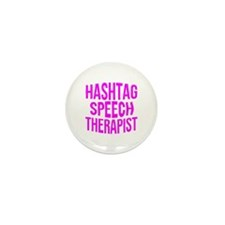 Hashtag Speech Therapist Mini Button (10 pack)