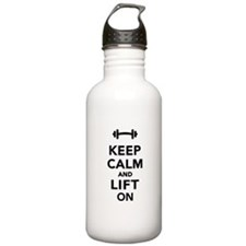 Keep calm and lift on Water Bottle