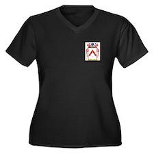 Gilberton Women's Plus Size V-Neck Dark T-Shirt